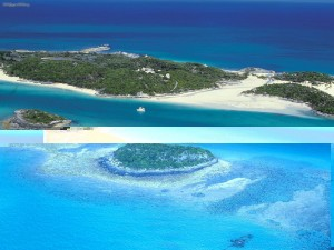 Aerial View of Exuma Cays Bahamas